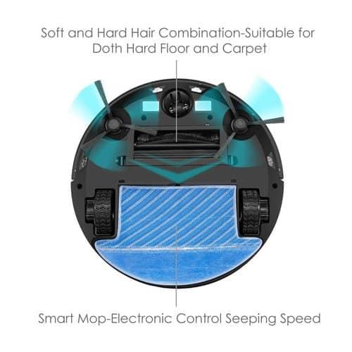 deik robotic vacuum_hard floor _carpet