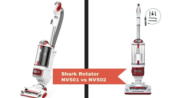 Shark Vacuum nv501 vs nv502 [Shark Rotator lift-away Professional Vacuum Compare]