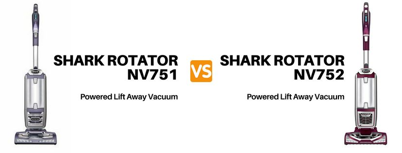 Shark nv751 vs nv752 Compare